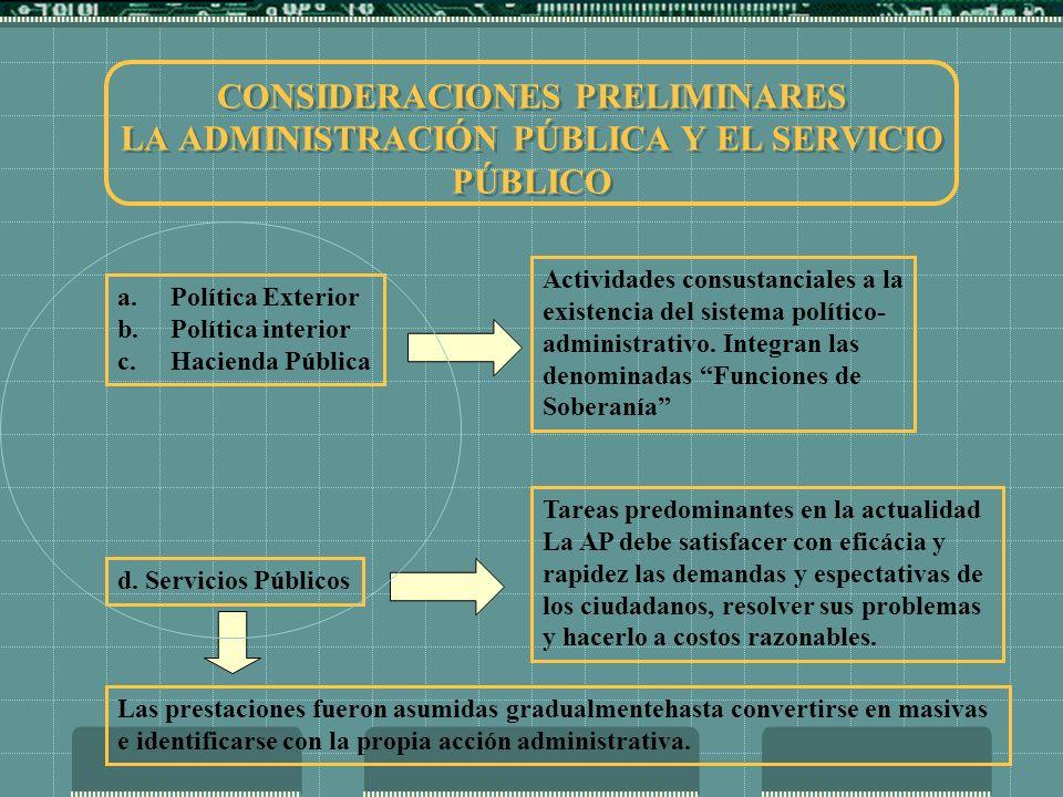 DELEGACIÓN ESTATAL DE COMETIDOS PROPIOS DE LOS SERVICIOS PÚBLICOS LA CONCESIÓN DE S.P.