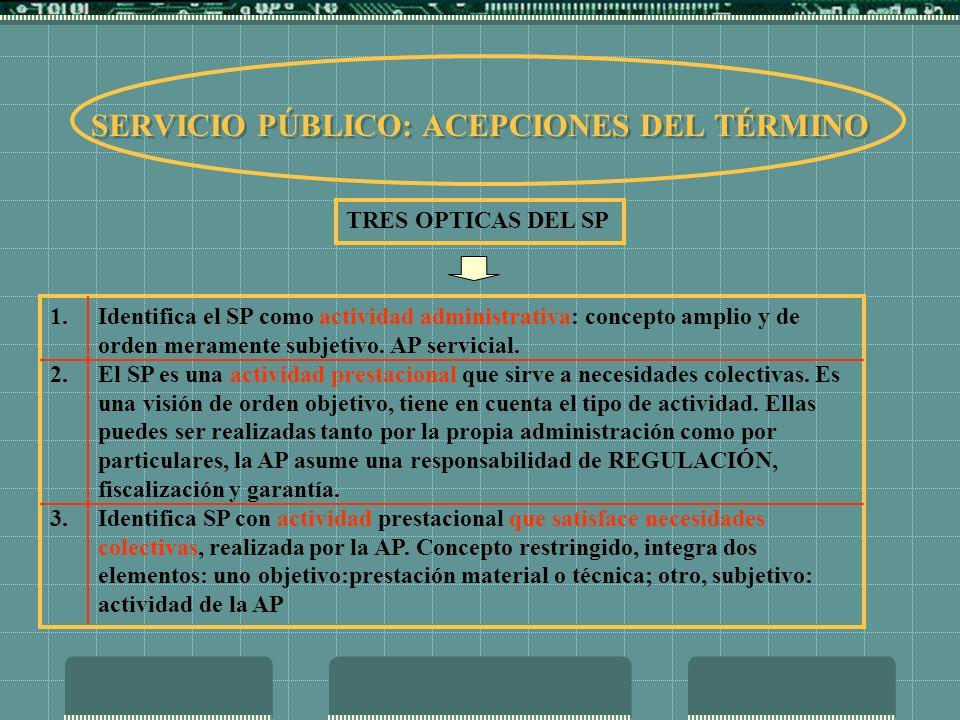 EL SERVICIO PÚBLICO DESDE LA PERSPECTIVA DE SU EJERCICIO POR PARTE DEL USUARIO - CONSUMIDOR 1.Es un instrumento idóneo para asegurar la provisión y garantizar la calidad de las prestaciones establecida en la delegación de cometidos (Contrato de Concesión).