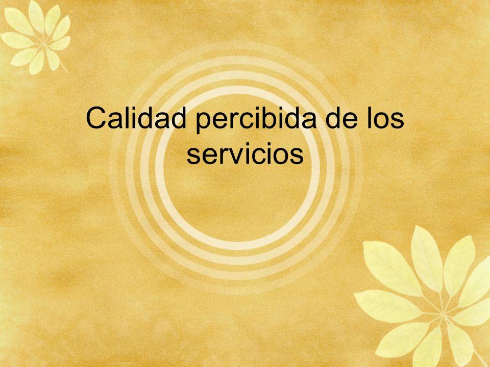 Calidad percibida de los servicios