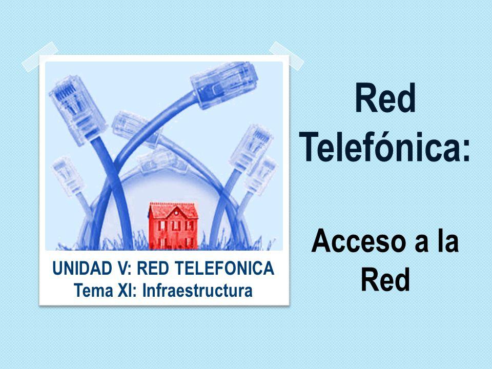 Red Telefónica: Acceso a la Red UNIDAD V: RED TELEFONICA Tema XI: Infraestructura