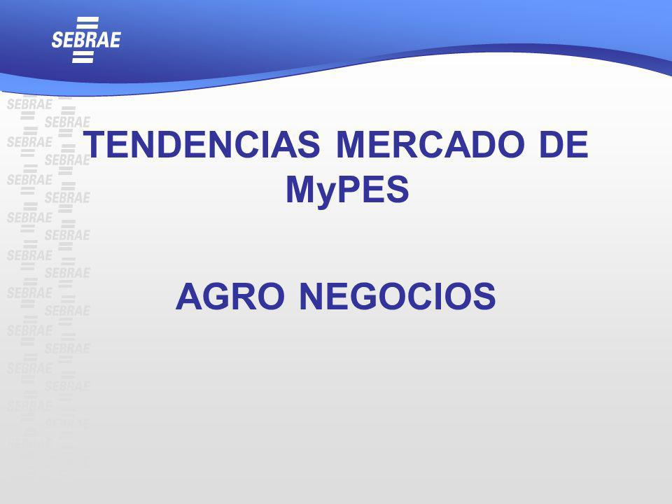 TENDENCIAS MERCADO DE MyPES AGRO NEGOCIOS