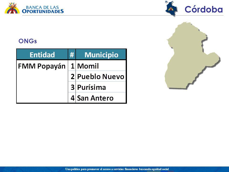 Una política para promover el acceso a servicios financieros buscando equidad social Córdoba ONGs