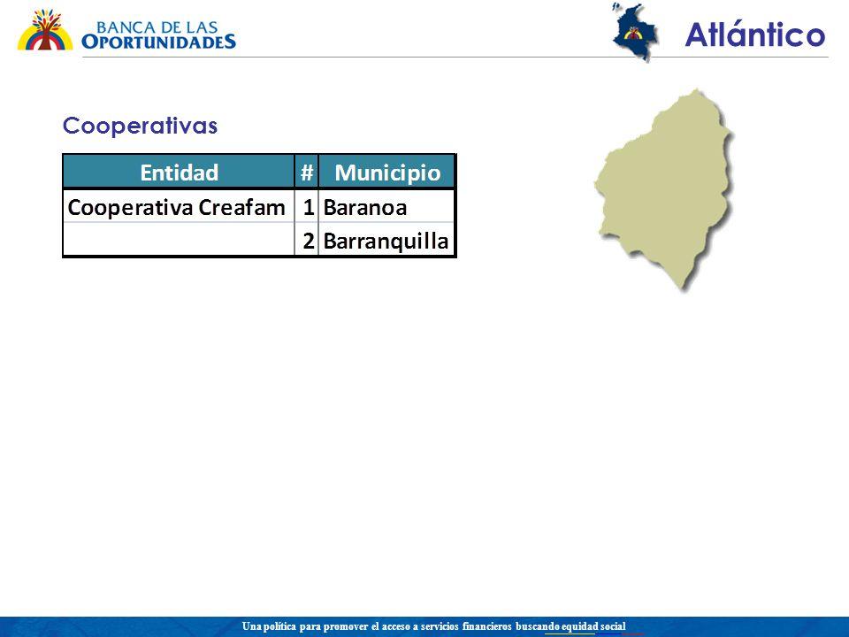 Una política para promover el acceso a servicios financieros buscando equidad social Atlántico Cooperativas