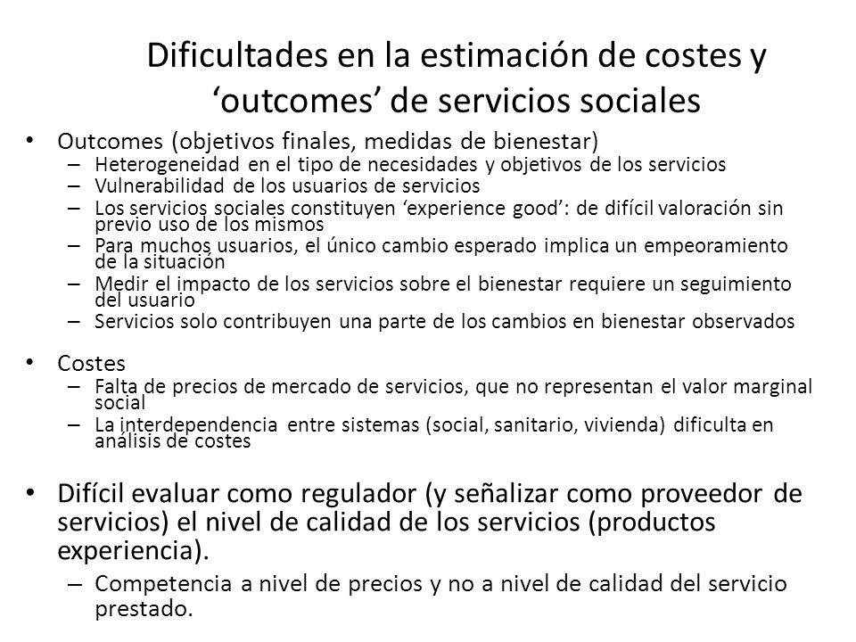Ejemplo de evaluación: el estudio ECCEP Evaluación de la reforma de los servicios sociales en la comunidad a finales de los 90.