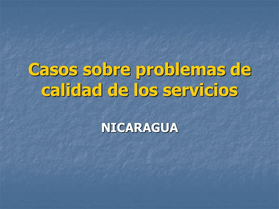 Organismos de regulación El Instituto Nicaragüense de Acueductos y Alcantarillados (INAA), es el Ente Regulador de la prestación de los servicios de agua potable y alcantarillado sanitario en el país.