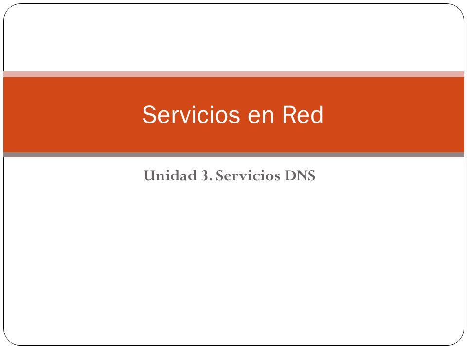 Unidad 3. Servicios DNS Servicios en Red