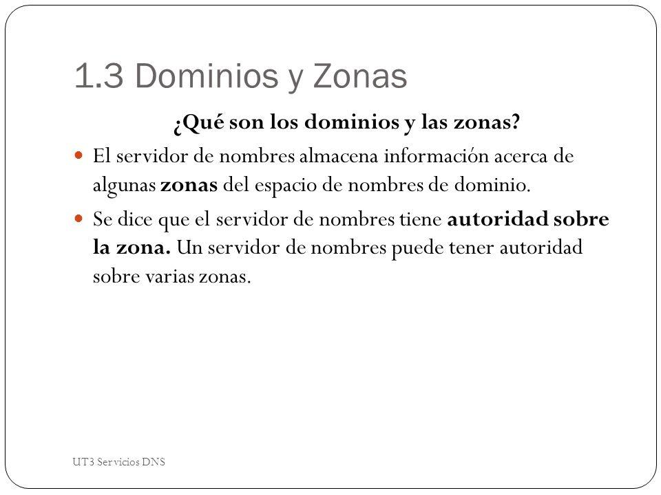 1.3 Dominios y Zonas ¿Qué son los dominios y las zonas.
