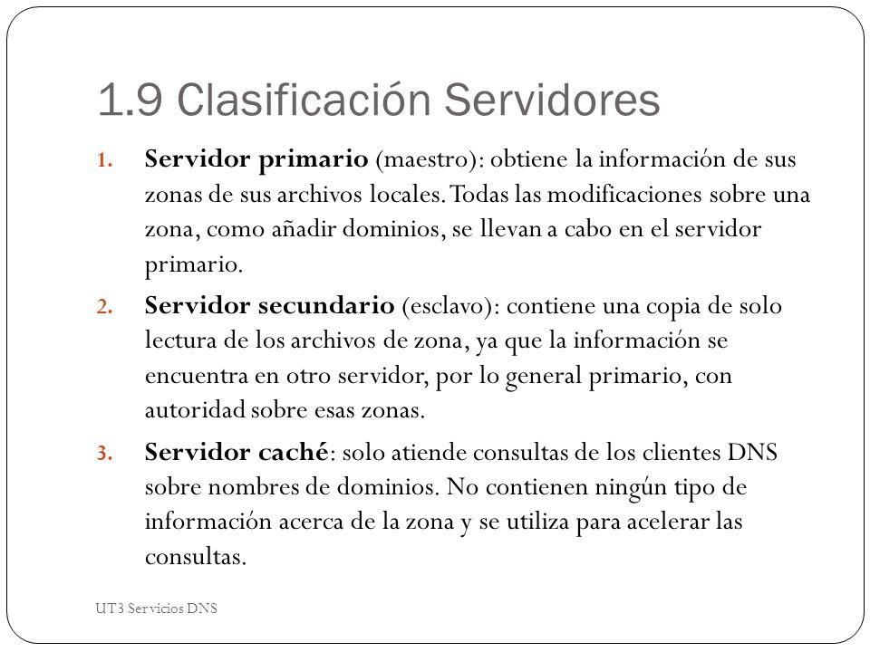 1.9 Clasificación Servidores 1.
