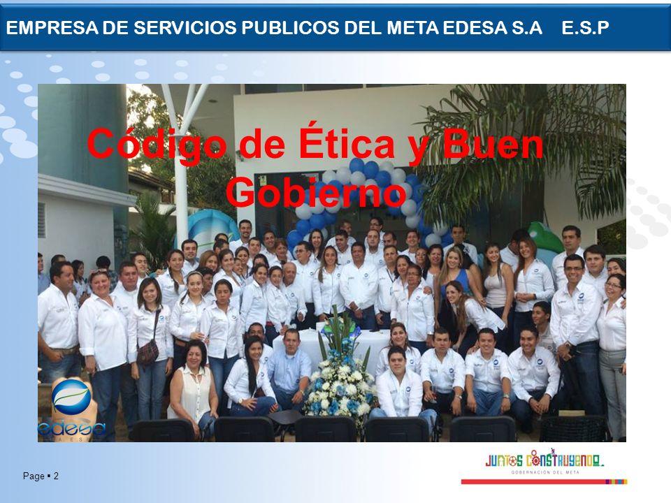 Page 23 EMPRESA DE SERVICIOS PUBLICOS DEL META EDESA S.A E.S.P -capacidad para reconocer y aceptar consecuencias de un hecho realizado libremente.