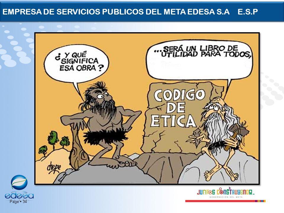 Page 34 EMPRESA DE SERVICIOS PUBLICOS DEL META EDESA S.A E.S.P