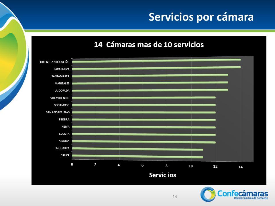 14 Servicios por cámara