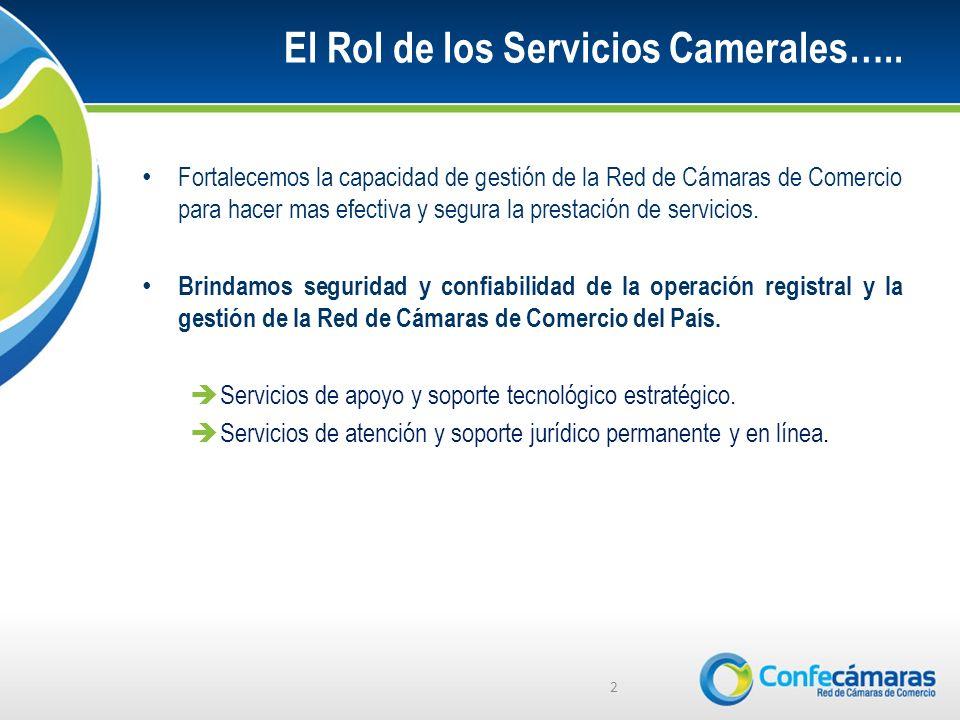 El Rol de los Servicios Camerales…..