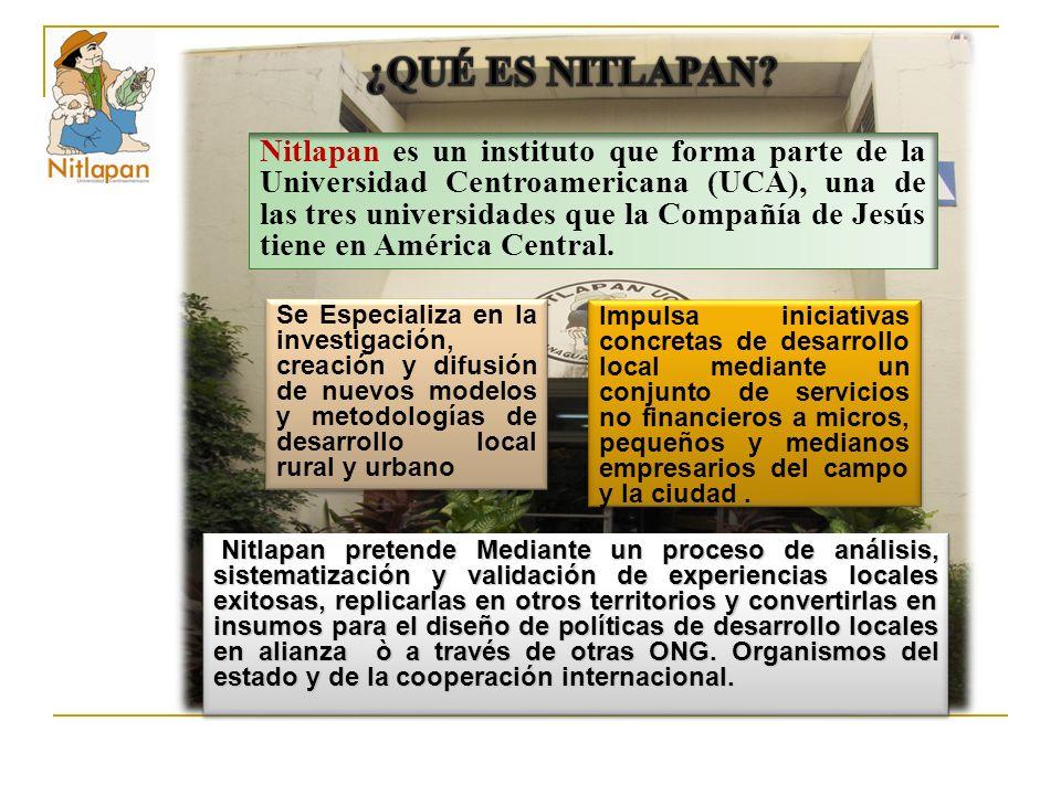 Nitlapan es un instituto que forma parte de la Universidad Centroamericana (UCA), una de las tres universidades que la Compañía de Jesús tiene en América Central.