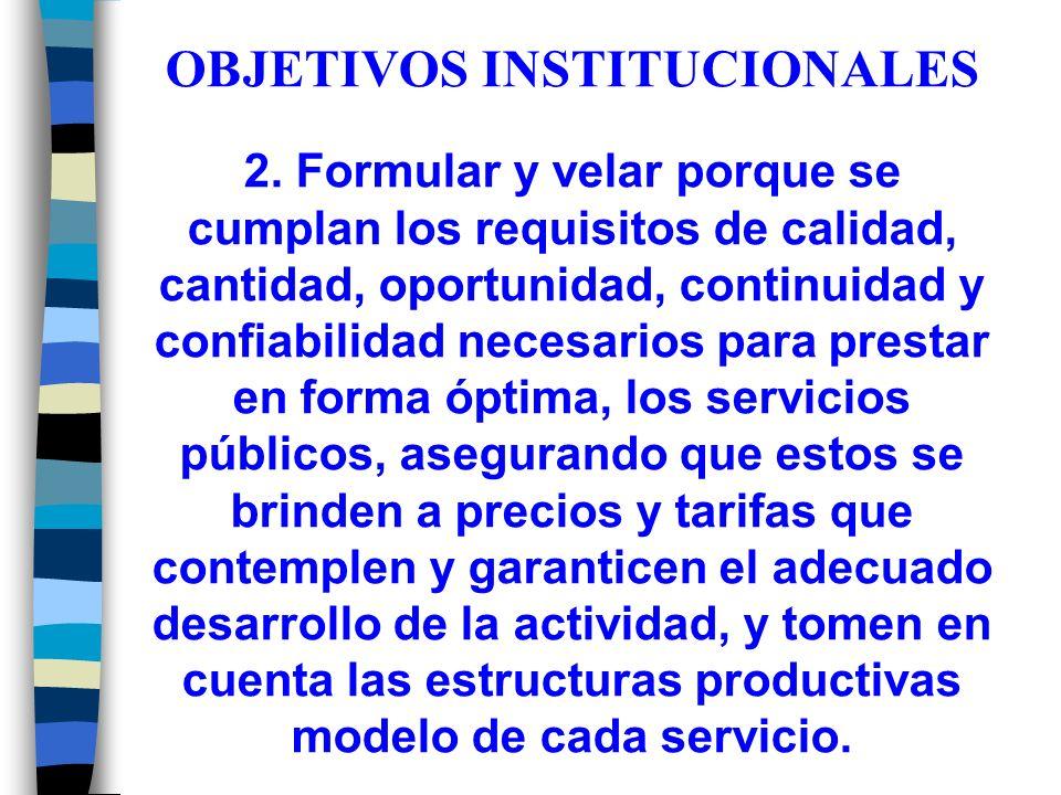 OBJETIVOS INSTITUCIONALES 2.