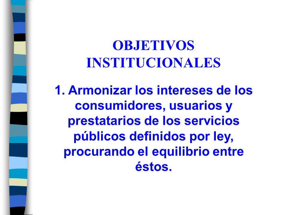 OBJETIVOS INSTITUCIONALES 1.