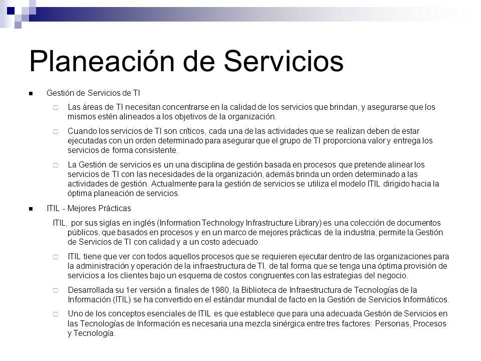 Gestión de Servicios ITL Planeación para la Implementación de la Administración de Servicio: Cubre los temas y actividades involucradas en planeación, implementación y mejora de los procesos de Administración de Servicios dentro de una organización.