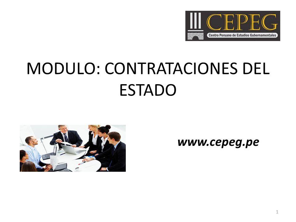 MODULO: CONTRATACIONES DEL ESTADO www.cepeg.pe 1