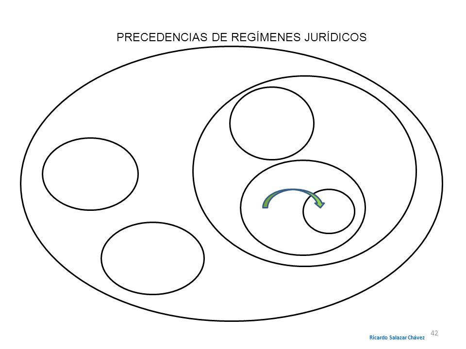 PRECEDENCIAS DE REGÍMENES JURÍDICOS Ricardo Salazar Chávez 42