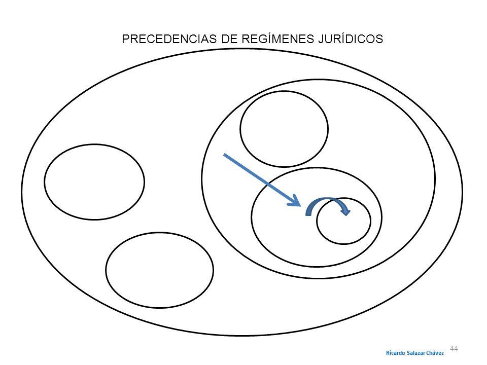 PRECEDENCIAS DE REGÍMENES JURÍDICOS Ricardo Salazar Chávez 44