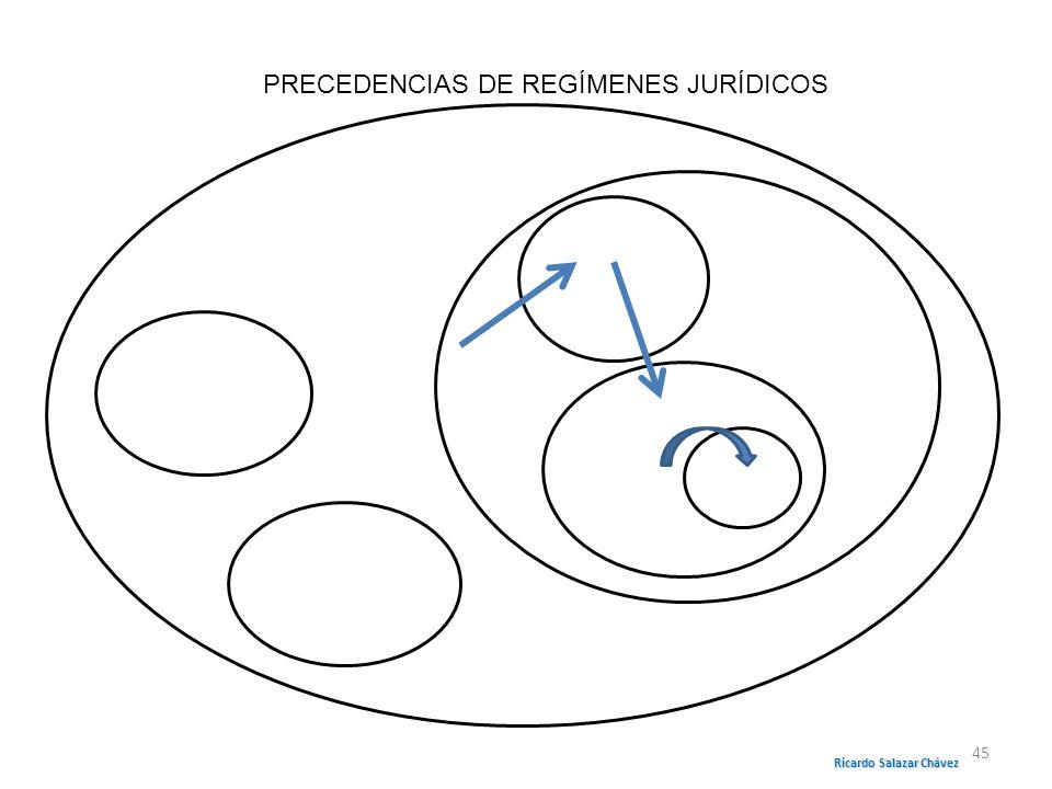 PRECEDENCIAS DE REGÍMENES JURÍDICOS Ricardo Salazar Chávez 45
