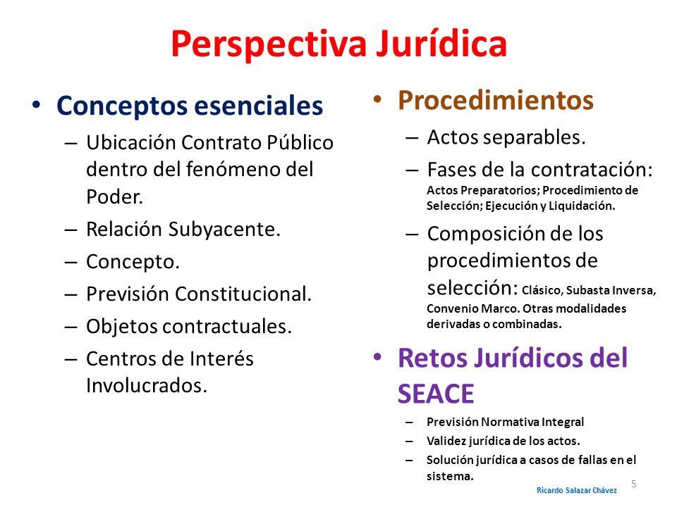 PRECEDENCIAS DE REGÍMENES JURÍDICOS Ricardo Salazar Chávez 46