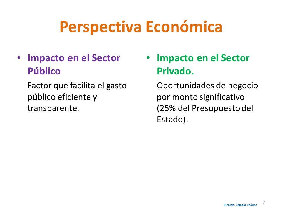 Perspectiva Económica Impacto en el Sector Público Factor que facilita el gasto público eficiente y transparente. Impacto en el Sector Privado. Oportu
