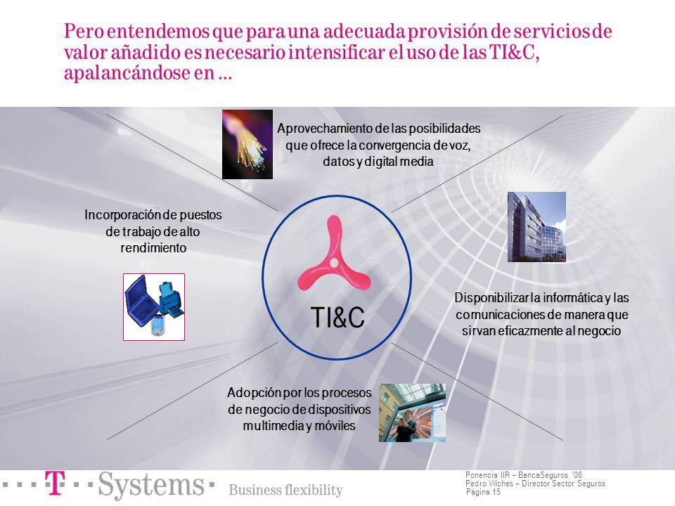 Página 15 Ponencia IIR – BancaSeguros 06 Pedro Vilches – Director Sector Seguros Pero entendemos que para una adecuada provisión de servicios de valor