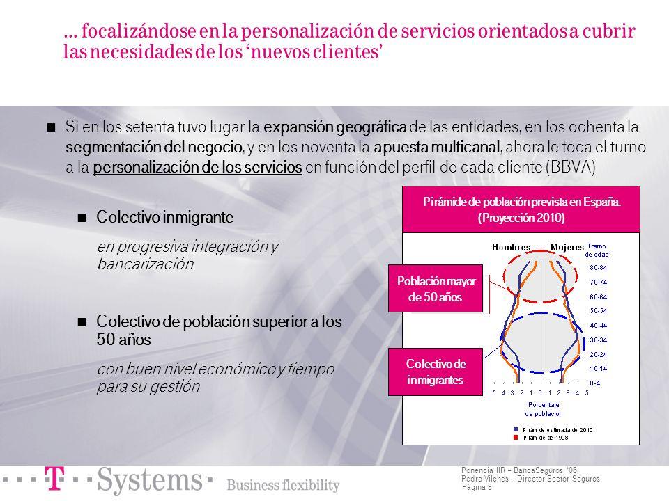 Página 8 Ponencia IIR – BancaSeguros 06 Pedro Vilches – Director Sector Seguros … focalizándose en la personalización de servicios orientados a cubrir