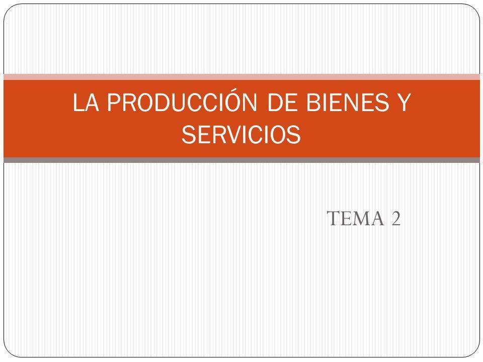 TEMA 2 LA PRODUCCIÓN DE BIENES Y SERVICIOS