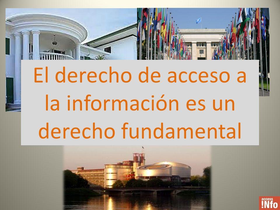 El derecho de acceso a la información es un derecho fundamental
