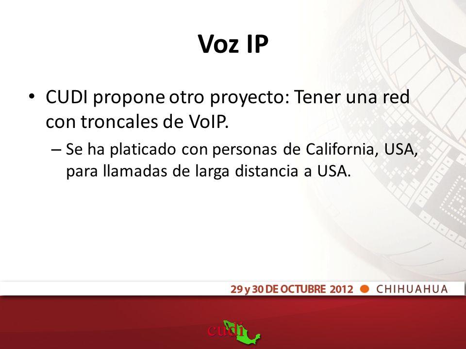 Voz IP CUDI propone otro proyecto: Tener una red con troncales de VoIP.
