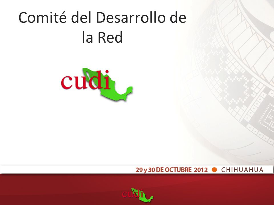 Comité del Desarrollo de la Red