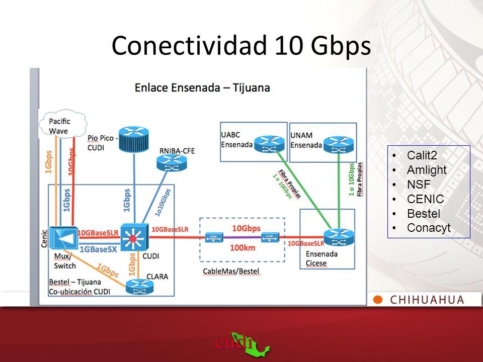 Calit2 Amlight NSF CENIC Bestel Conacyt Conectividad 10 Gbps