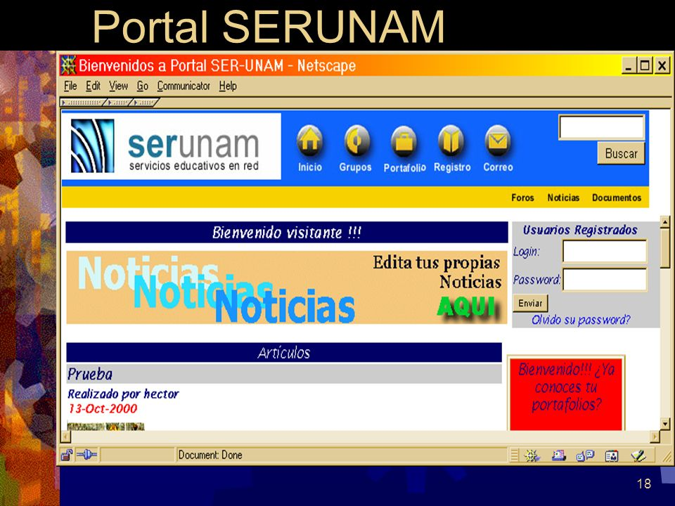 18 Portal SERUNAM