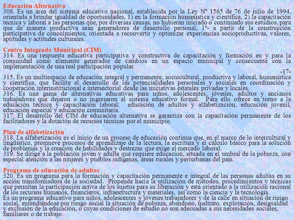 Educación Alternativa 308.