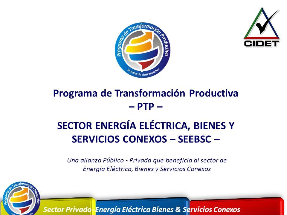 Sector Privado -Energía Eléctrica Bienes & Servicios Conexos Programa de Transformación Productiva – PTP – SECTOR ENERGÍA ELÉCTRICA, BIENES Y SERVICIO