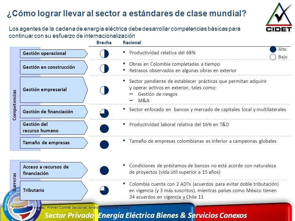 Sector Privado -Energía Eléctrica Bienes & Servicios Conexos Los agentes de la cadena de energía eléctrica debe desarrollar competencias básicas para