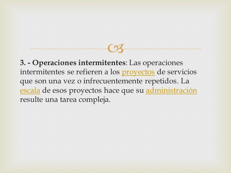 1. - Operaciones en línea: En una operación en línea hay una secuencia organizada de operaciones o actividades. El servicio se produce siguiendo esta