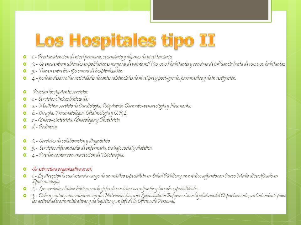 1.- La Prestan servicios de atención médica integral a la salud en los tres niveles clínicos.
