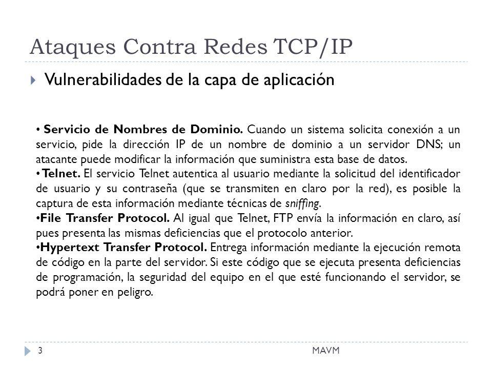 Ataques Contra Redes TCP/IP Vulnerabilidades de la capa de aplicación Servicio de Nombres de Dominio.