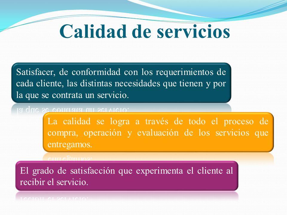 La calidad en el servicio difiere de la calidad en los productos.