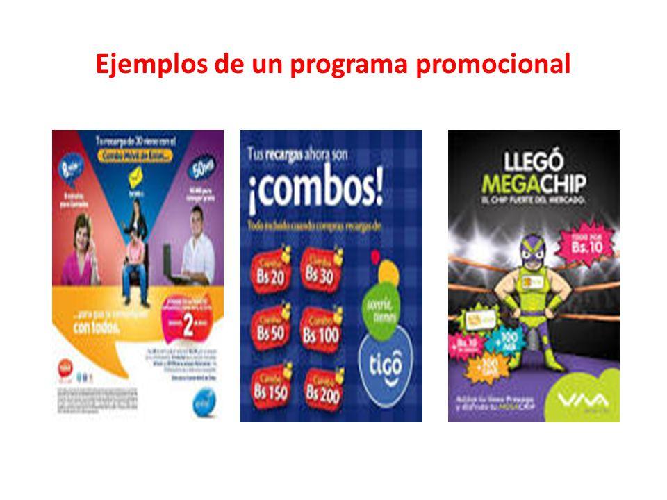 Ejemplos de un programa promocional