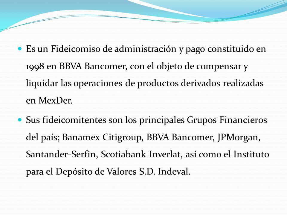 Es un Fideicomiso de administración y pago constituido en 1998 en BBVA Bancomer, con el objeto de compensar y liquidar las operaciones de productos de