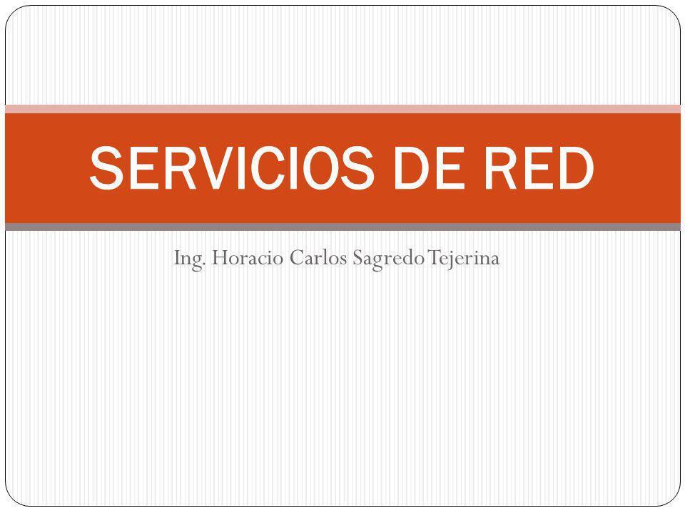 Ing. Horacio Carlos Sagredo Tejerina SERVICIOS DE RED
