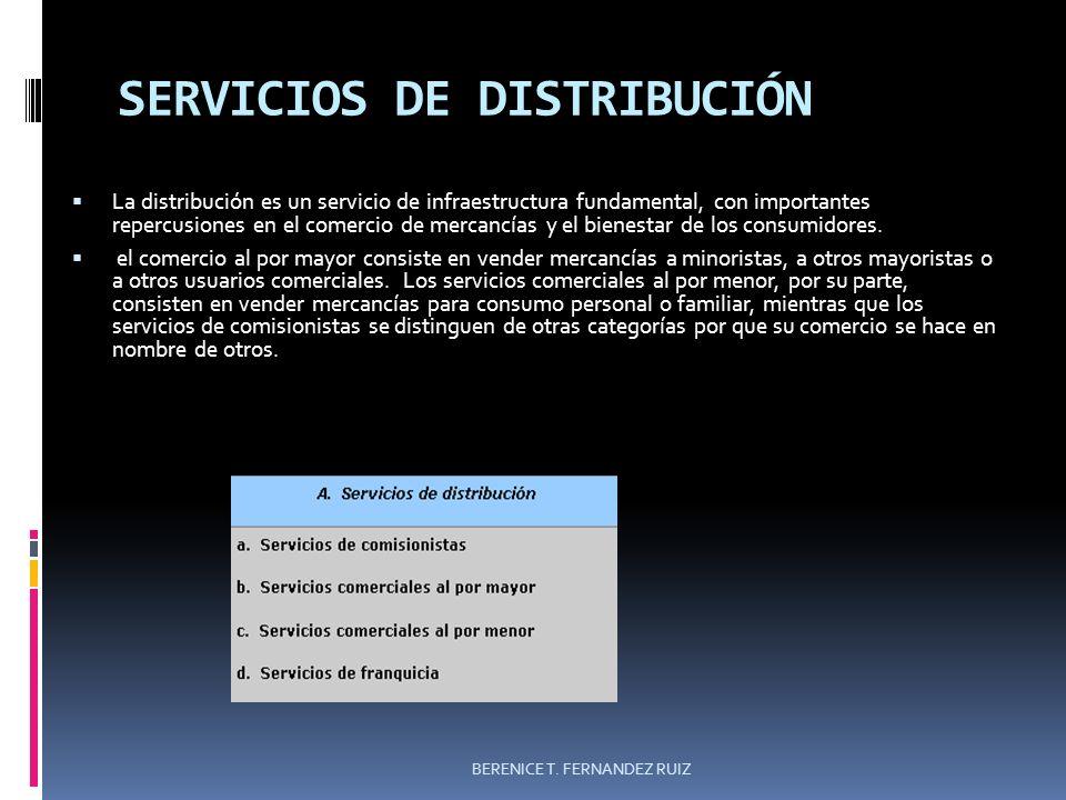 SERVICIOS DE DISTRIBUCIÓN La distribución es un servicio de infraestructura fundamental, con importantes repercusiones en el comercio de mercancías y