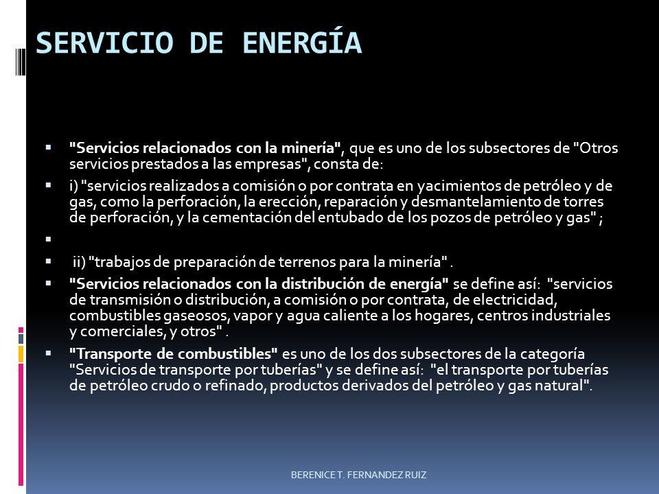 SERVICIO DE ENERGÍA