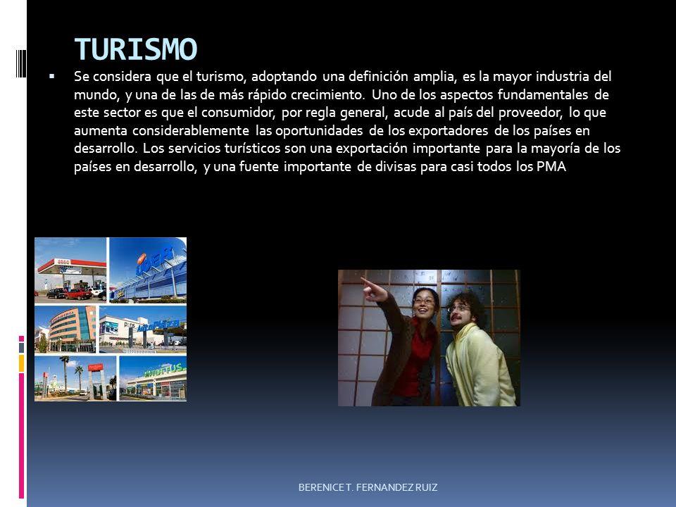 TURISMO Se considera que el turismo, adoptando una definición amplia, es la mayor industria del mundo, y una de las de más rápido crecimiento. Uno de
