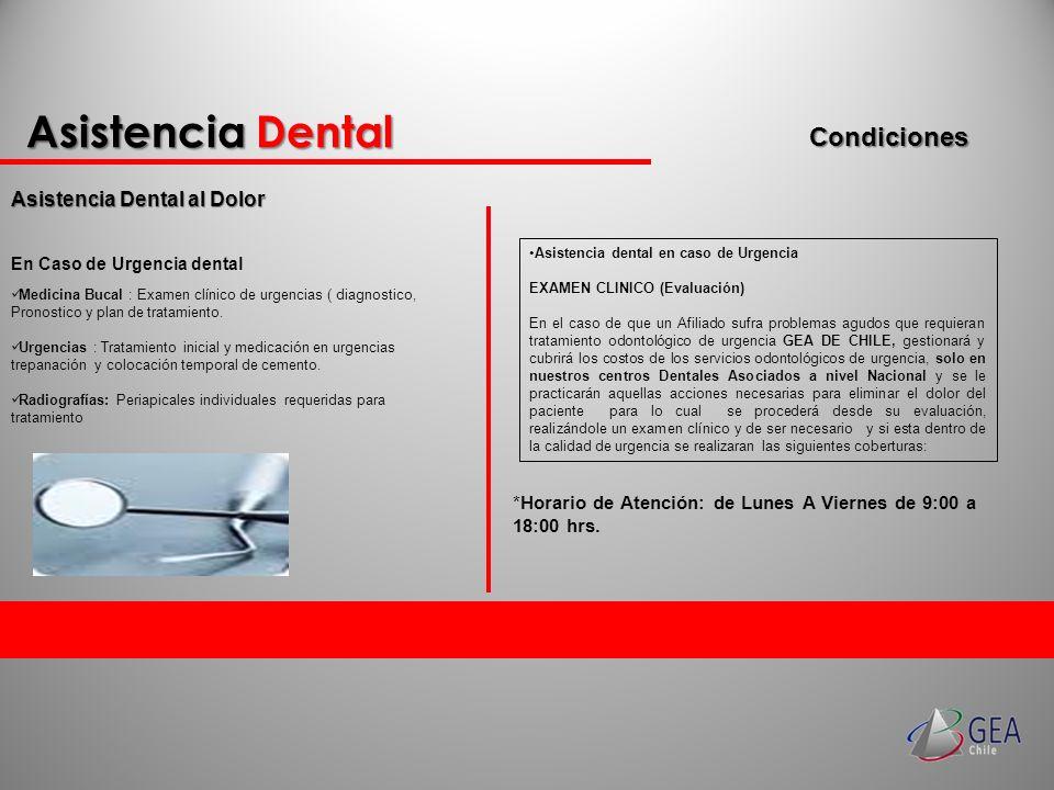 Asistencia Dental Asistencia Dental al Dolor Condiciones Medicina Bucal : Examen clínico de urgencias ( diagnostico, Pronostico y plan de tratamiento.