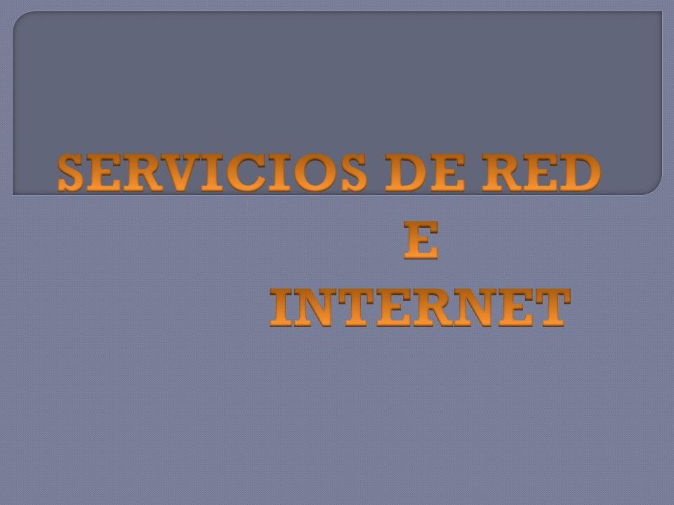 Los servicios de red son la fundación de una red de trabajo en un ambiente de computadoras.