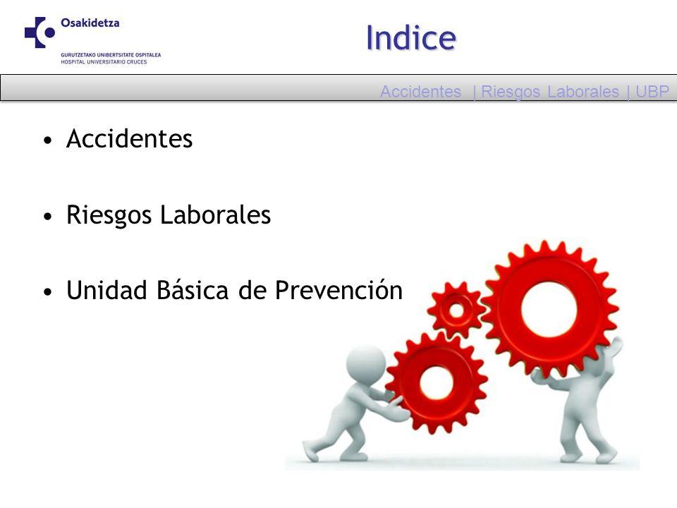 Indice Accidentes Riesgos Laborales Unidad Básica de Prevención Accidentes | Riesgos Laborales | UBP